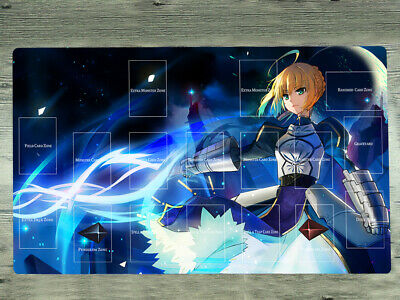 E132 Fate Extra Saber Nero Card Game Playmat Anime Play Mat Large Mouse Pad