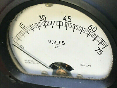 Vtg Daystrom Weston Instruments Gauge Model 301-57 Volts D.C. Steam Punk Art