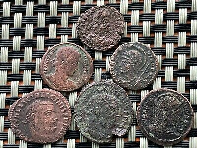 Lot Of 6 Ancient Roman Imperial Bronze Coins Ae3 In Very Good Quality