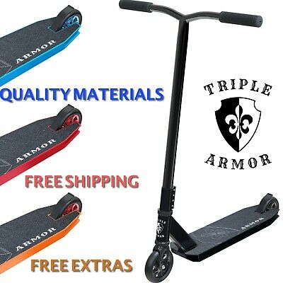 Stunt Scooter Pro Push Kick Trick Scooters Triple Armor Big Discounts Today