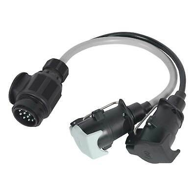 Sealey Conversion Lead 13-Pin Euro to 7-Pin N & S Type Plugs 12V - TB55