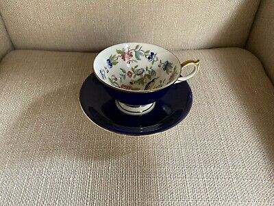 Aynsley Pembroke Cup and Saucer Excellent Condition - Gold Trim