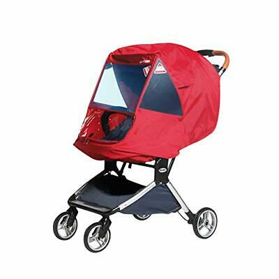 Fitlyiee Infant Stroller Weather Shield Universal Rain Cover with Travel (Red)