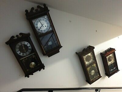 Joblot of four Wall Clocks, Sold as Seen, Spares or Repair
