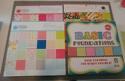 Martha Stewart 12x12 Paper Pads, Barely Used