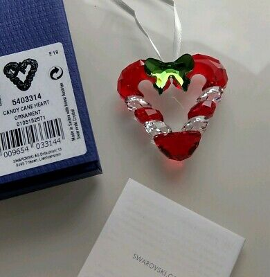 Swarovski CANDY CANE HEART CHRISTMAS ORNAMENT NEW for 2019 MINT IN BOX 5403314
