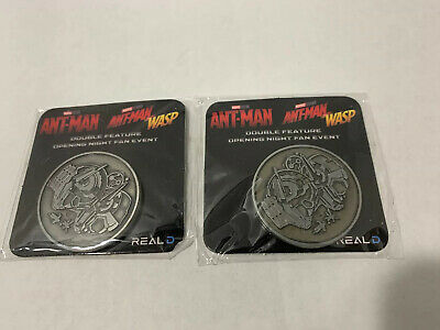 AntMan and The Wasp Opening Night Fan Event Double Feature Coin RARE MUST HAVE