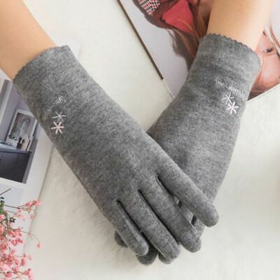 Women's Touch Screen Gloves Winter Wool Knitted Hand Mittens Cotton Glove Warmer