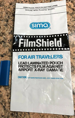 Sima Film Shield X-Ray Bag with Clip Lead Laminated Pouch Protects Film