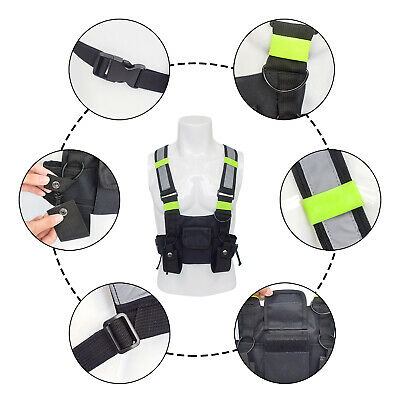 600D Nylon Radio Chest Harness Chest Front Pack Adjustable Shoulder Strap CY2