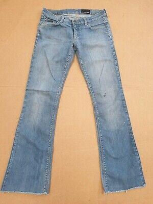 Ee847 Womens Calvin Klein Faded Blue Bootcut Stretch Denim Jeans Uk 10 W28 L29