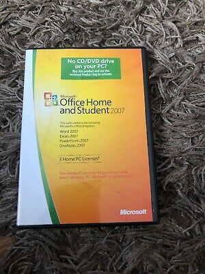 MICROSOFT OFFICE HOME AND STUDENT 2007 Used With Key Genuine Windows Disc