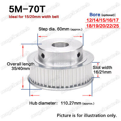 5M28T Timing Belt Pulley Gear 5mm Pitch 8mm Bore For 20//25mm Width Timing Belt