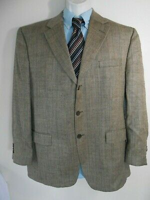 Joseph Abboud Mens Designer Silk Linen Wool Blend 3-Button Suit Coat 44 R