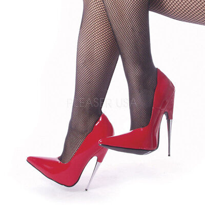 DAGGER 12 DEVIOUS HIGH HEELS Pumps schwarz rot Lack mit