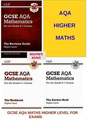 Gcse Aqa Higher Maths Revision & Workbook Complete 4 Book For Exams From 2020