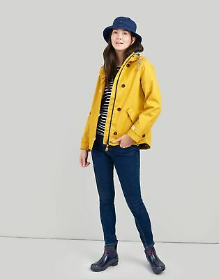 Joules Womens Coast Waterproof Coat in ANTIQUE GOLD