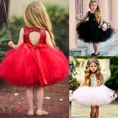 Party Backless Sequins Sparkle Kids Clothes Baby Girl Dress Princess Dress