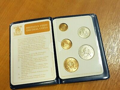 BREXIT SPECIAL!! 4 SETS!! Britains FIRST EVER Decimal Coin Sets CELEBRATE NOW!!!