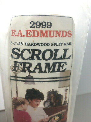 FA Edmunds Scroll Frame Cross Stitch Needlepoint Crewel Embroidery  8.5 X 24