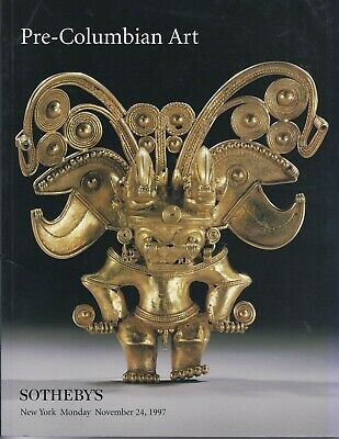 SOTHEBY'S PRE COLUMBIAN ART GOLD Mexico Maya Auction Catalog 1997