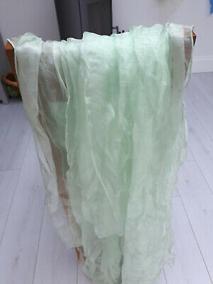 BEST QUALITY 4 X Mint Sparkle Organza Wedding Table Runners UK sell