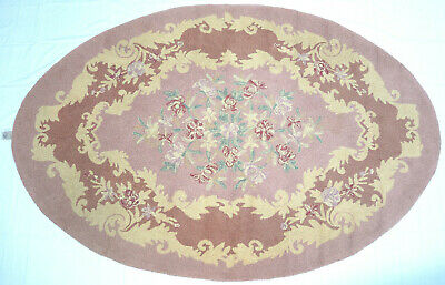 c.1920's-30's VINTAGE PRISCILLA TURNER GUILD WOOL LOOPED HAND HOOKED RUG 6' X 9'