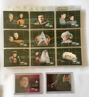 Star Trek: The Next Generation Season 5 Trading Cards Base Set & 2 Chase Cards
