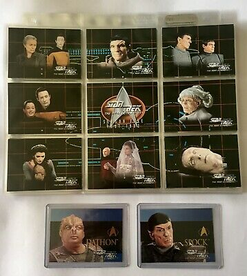 Star Trek: The Next Generation Season 5 Trading Cards Base Set + 2 Chase Cards