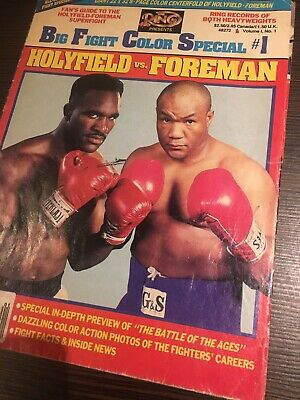 Ring Boxing Magazine Big Fight Color Special 1 Evander Holyfield VS Foreman