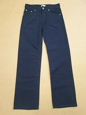 EE874 BOYS TIMBERLAND BLUE STRAIGHT LEG COTTON CHINOS TROUSERS AGE 12 YRS 152cm