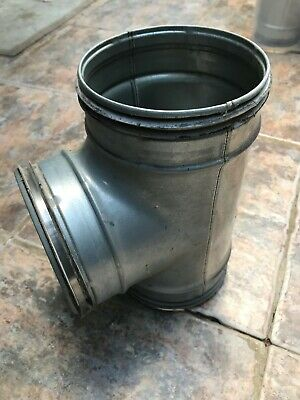 Galvanised Metal Ducting - Safe twin seal - Equal T-Piece Tee - 125mm 125mm