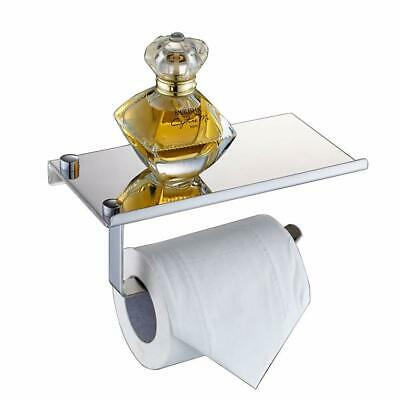 Wall Mount Toilet Paper Holder Bathroom Tissue Holder with Mobile Phone Storage