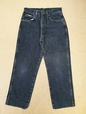 Ee895 Boys Wrangler Faded Black Straight Leg Denim Jeans Age 12 Years W26 L23