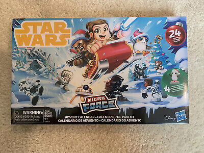 Factory Sealed Star Wars Micro Force Advent Calendar 2018 Version (24 Figures)