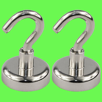 (2 Pcs) Magnetic Hook Neodymium Ø 12 mm Pot Magnet/Strong Holding Strength