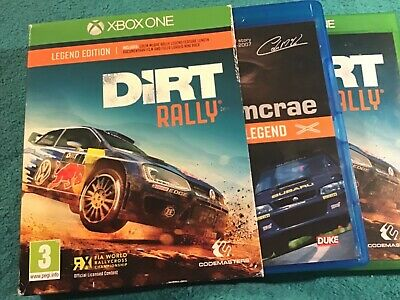 🧿 DIRT Rally Legend Edition Xbox ONE Game inc Manual + Colin McRae Blu-ray DVD.