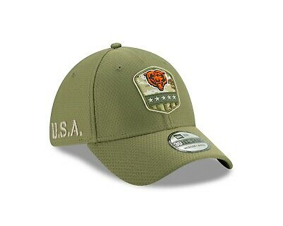 Chicago Bears New Era 2019 Salute to Service Sideline 39THIRTY Hat Olive