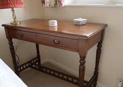 Antique Mahogany Console Table with drawer and castors