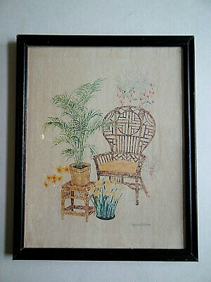 """Gloria Eriksen Signed Framed Picture with Glass Insert 10 3/4"""" x 8 3/4"""""""