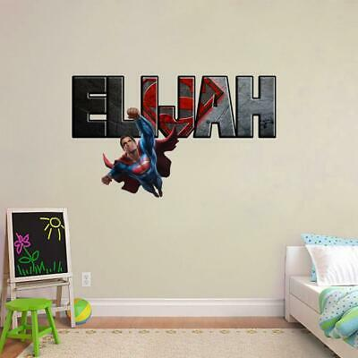 SUPERMAN Man Of Steel Smashed Wall Decal Graphic Wall Sticker Decor Art H398