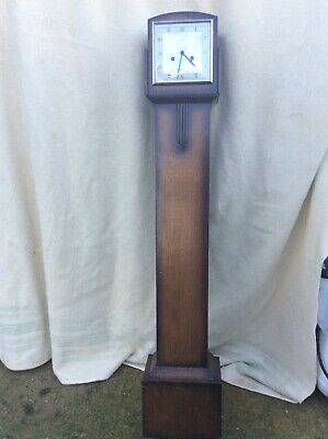 Art Deco oak grandmother clock