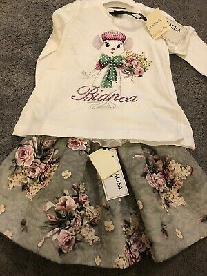 Monnalisa Miss Bianca Skirt Set 5 Years BNWT Paid Over £200 For Set