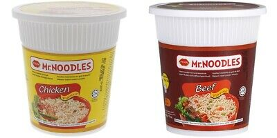 Mr.Noodles CUP Instant Nudelsuppe Chicken / Beef / oder Mix 24x 60g