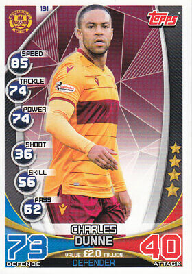 TOPPS MATCH ATTAX SPFL 2019-20 - Charles Dunne - Motherwell - # 131