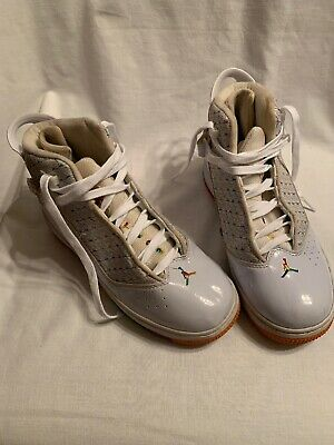 Jordan Six Ring  96,97,98 No. 136027-111 - Two 3 White With Rainbow  Size 6.5-7Y
