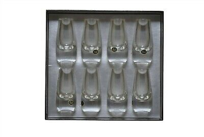 Vintage Heavy Clear Glass Shot Glasses Cordial Glass - Set of 8 NEW