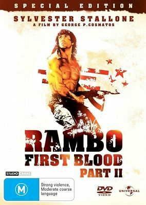 RAMBO - First Blood II (DVD, 2004) Sylvester Stallone REGION 4 DVD