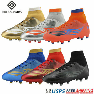DREAM PAIRS Men Jr Kids Boys Girls Outdoor Athletic Soccer Football Cleats Shoes