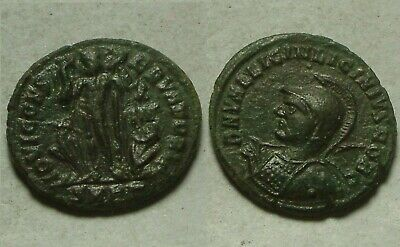Helmeted Licinius II spear Jupiter eatle captive Rare genuine Ancient Roman coin